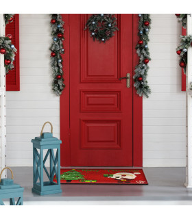 Christmas doormat - Santa tree, Christmas themed welcome mat in coconut ambient