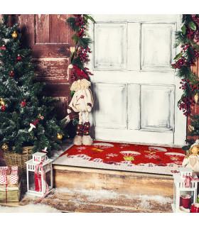Christmas Zerbino - Regali paracadute, tappeto di benvenuto in tema Natalizio in cocco ambientata