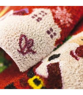 Christmas Zerbino - Regali paracadute, tappeto di benvenuto in tema Natalizio in cocco dettaglio