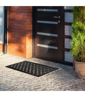 HONEY - Doormat 100% non-slip rubber with a woven pattern, one size 40x70 cm  ambient