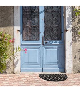 HONEY - Mezzaluna, Zerbino 40x70 cm, 100% in gomma antiscivolo a motivo intrecciato ambientata