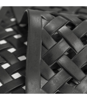 HONEY - Mezzaluna, Zerbino 40x70 cm, 100% in gomma antiscivolo a motivo intrecciato dettaglio