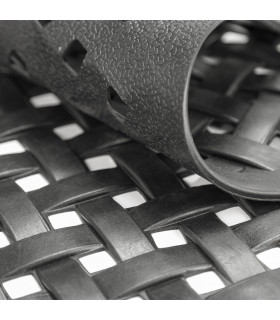HONEY - Mezzaluna, Zerbino 40x70 cm, 100% in gomma antiscivolo a motivo intrecciato fondo