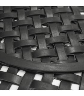 HONEY - Mezzaluna, Zerbino 40x70 cm, 100% in gomma antiscivolo a motivo intrecciato dettaglio2
