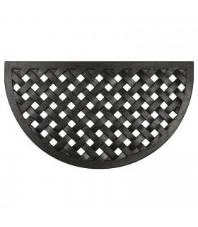 HONEY - Mezzaluna, Zerbino 40x70 cm, 100% in gomma antiscivolo a motivo intrecciato