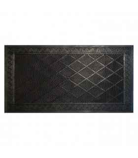 MORBIDONE - Zerbino in 100% PVC, antiscivolo, barriera contro lo sporco, defaticante nero