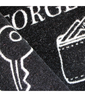 Particular of the modern black and white doormat with non-slip bottom