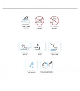 FUNNY DONT FORGET Zerbino asciugapassi 45x75 cm antiscivolo stampa digitale etichetta