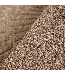 STRONG zerbino mezza luna  inciso gomma tappeto esterno UNICA MISURA in due colori dettaglio beige