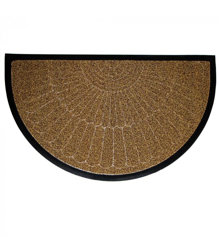 STRONG zerbino mezza luna  inciso gomma tappeto esterno UNICA MISURA in due colori