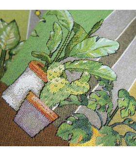 QUEEN SECOND- Plants green, Tappeto da cucina antiscivolo, misure assortite dettaglio