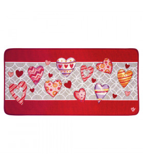 QUEEN SECOND - Love red, Tappeto da cucina antiscivolo, misure assortite