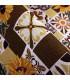 QUEEN SECOND - Country brown, Tappeto da cucina antiscivolo, misure assortite dettaglio
