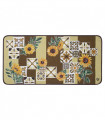 SECOND QUEEN - Country brown, non-slip mat kitchen, assorted sizes
