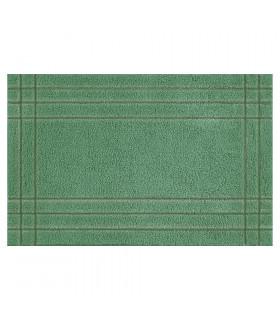 DUNA - Tappeto lavorato a mano da bagno in 100% cotone super assorbente. verde