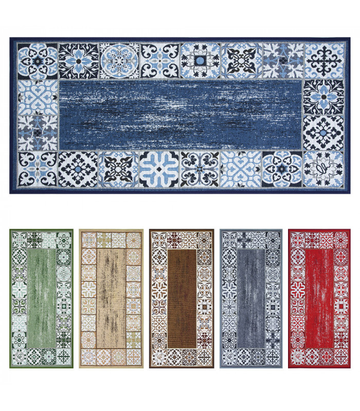 SPRINT MAIOLICA - Kitchen mat with non-slip bottom - assorted sizes and colors