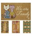 FANTASY - 40x65 rectangular doormat in natural coconut fiber with assorted prints