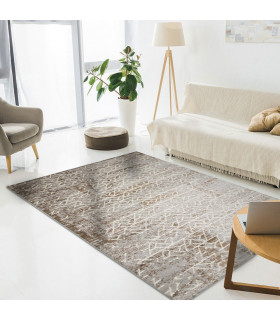 LOFT - LABYRINTH BROWN, Modern carpet for furniture. Available in assorted sizes. Ambient