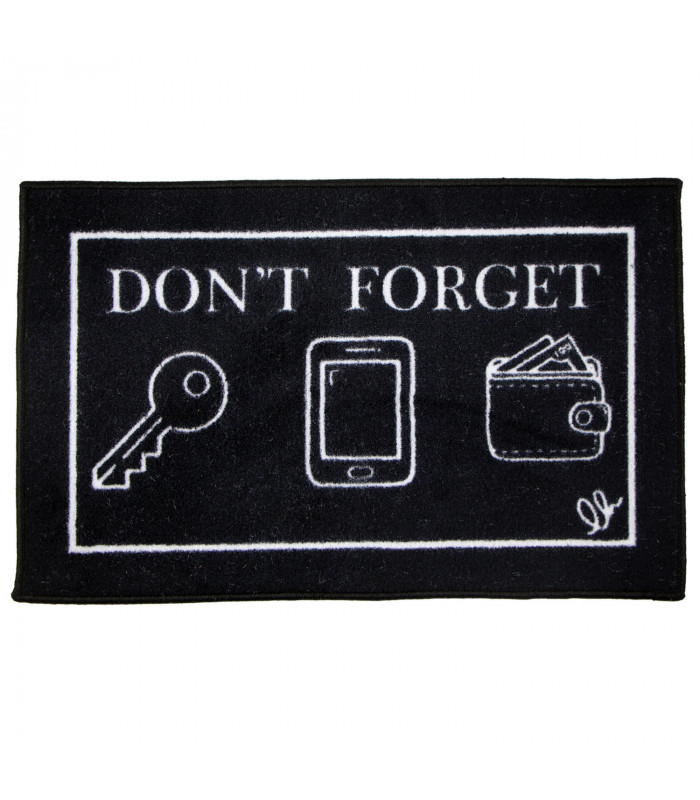 Absorbent entrance mat with original FUNNY writings