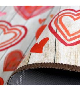 MIAMI PARQUET LOVE - non-slip kitchen rug various sizes - particular