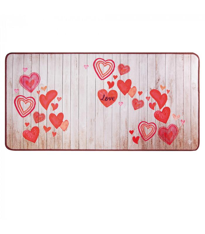 MIAMI PARQUET LOVE - non-slip kitchen rug various sizes