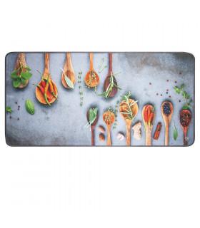 MIAMI MESTOLI GRIGIO - tappeto da cucina antiscivolo varie misure