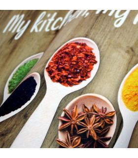 MIAMI SPICES BROWN - non-slip kitchen rug various sizes - details