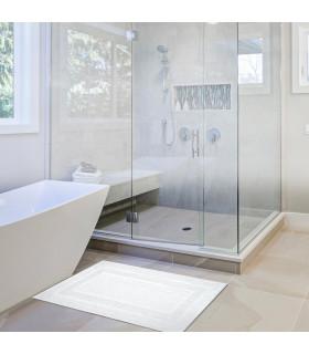 VELA - Tappetino da bagno in cotone morbido e assorbente con fondo antiscivolo - ambientata
