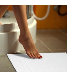 VELA - Tappetino da bagno in cotone morbido e assorbente con fondo antiscivolo - posato