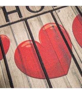 FLIPPER 2 - Patterned doormat in resistant non-slip rubber 40x60 cm - particular love