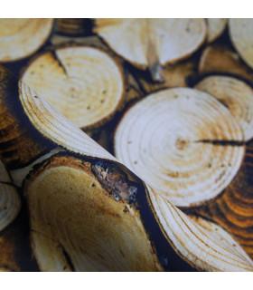 JOKE 4 - WOOD. Non-slip carpet and custom-made kitchen runner with print - particular