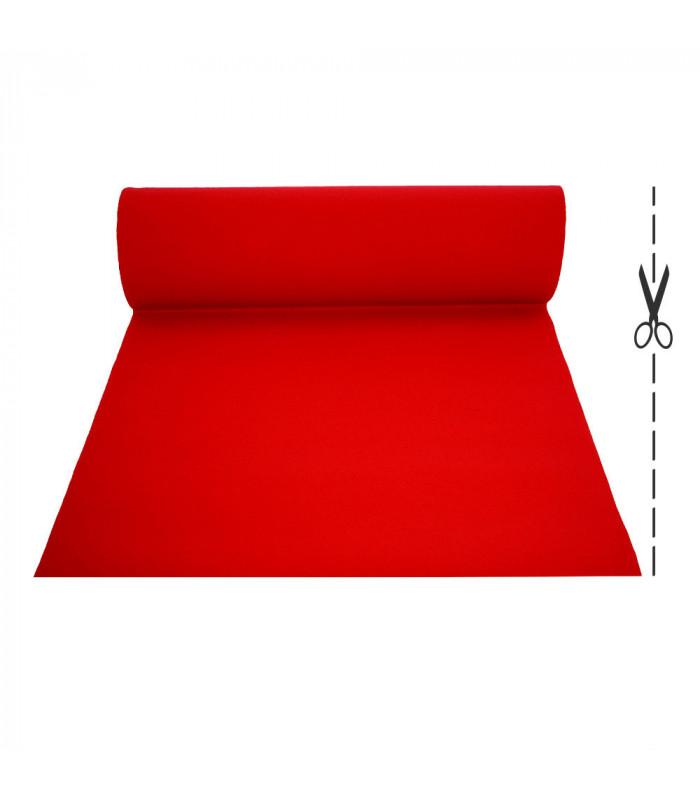 CHRISTMAS 2 metri - Passatoia Rosso Natale su misura per eventi e matrimonio, tappeto per cerimonie o negozi.