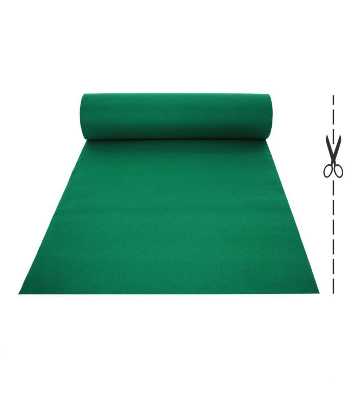 Passatoia Verde su misura ad effetto moquette per eventi e matrimonio, tappeto per cerimonie o negozi