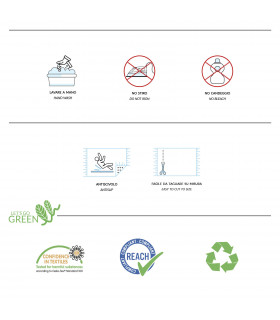 Passatoia Verde su misura ad effetto moquette per eventi e matrimonio, tappeto per cerimonie o negozi - etichetta
