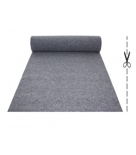 Custom-made gray runner with carpet effect for events and weddings, carpet for ceremonies or shops