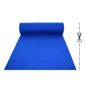 Passatoia Blu su misura ad effetto moquette per eventi e matrimonio, tappeto per cerimonie o negozi