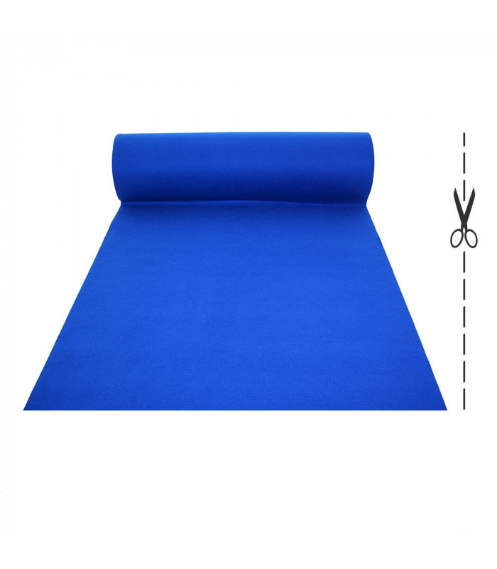 Custom-made blue runner with carpet effect for events and weddings, carpet for ceremonies or shops