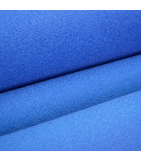 Custom-made blue runner with carpet effect for events and weddings, carpet for ceremonies or shops - detail