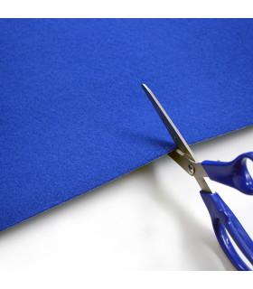 Passatoia Blu su misura ad effetto moquette per eventi e matrimonio, tappeto per cerimonie o negozi - forbice