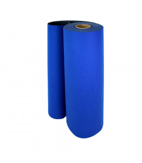 Custom-made blue runner with carpet effect for events and weddings, carpet for ceremonies or shops - roll
