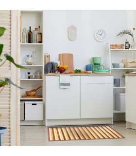 BAMBOO - Beige, non-slip carpet for the kitchen, bamboo walkway with degradé effect for showcase - ambient