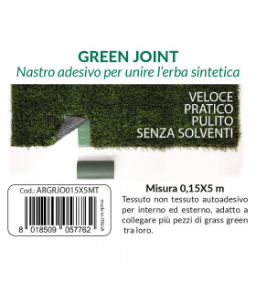 Self-adhesive tape in non-woven fabric ideal for synthetic grass 0.15x5 m - label