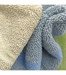 SUN - Round bath mat in cotton and microfiber with non-slip bottom 75cm 7 colors detail