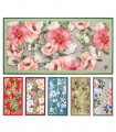NEW SMILE Hawaii - Kitchen mat with non-slip bottom, various sizes, tropical flower print