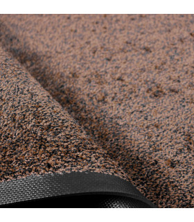 Detail texture brown color professional custom-made clean-off doormat SOLID