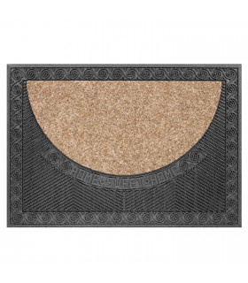Doormat made with beige recycled material