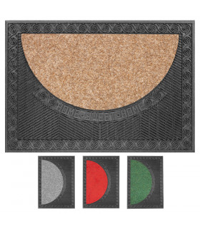 HOUSE - Eco-sustainable doormat in pvc with absorbent carpet insert 50x70 cm 4 colors