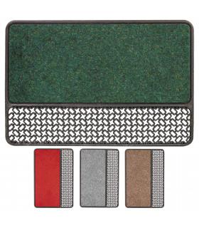 ASTRO - Zerbino  in gomma e moquette realizzato con materiale riciclato 4 colori
