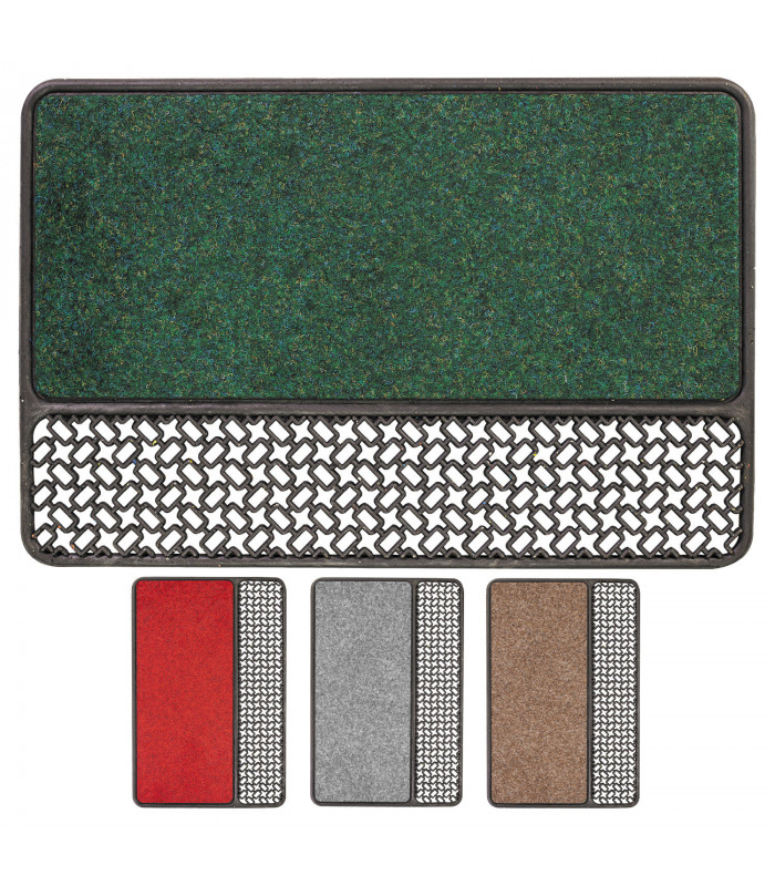 ASTRO - Rubber and carpet doormat made with recycled material 4 colors