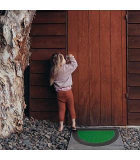 half-moon outdoor doormat